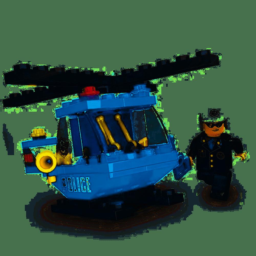 Blocos de Montar - Defensores Da Ordem - Escolta Aérea - 47 Peças - Xalingo