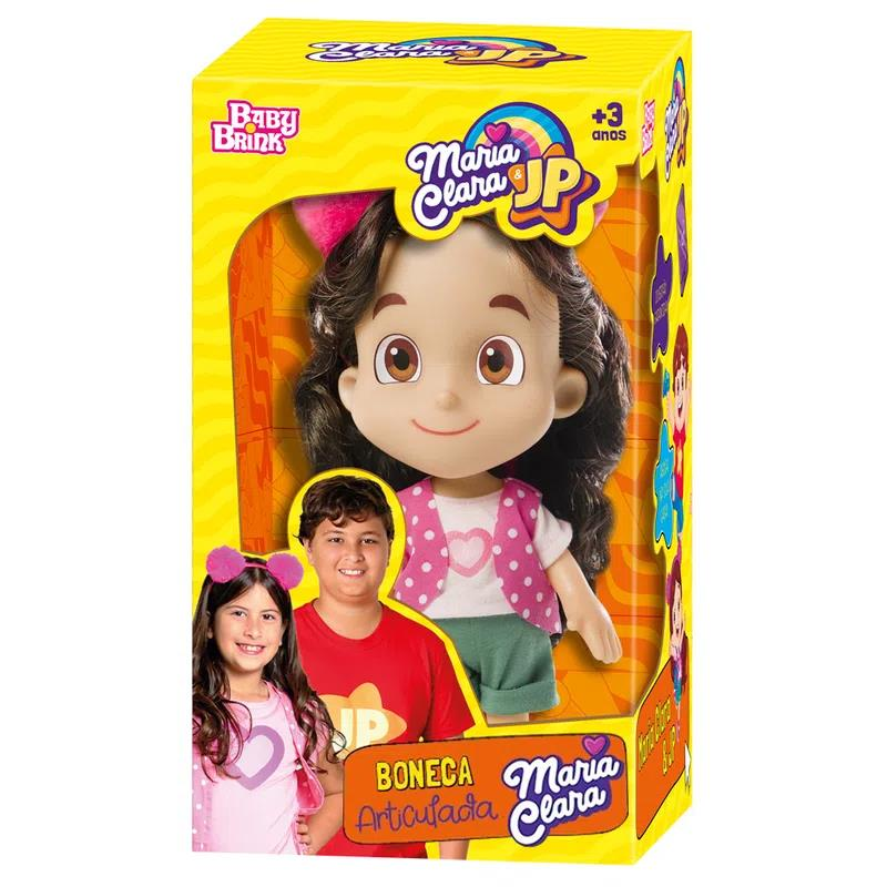 Boneca Articulada - Maria Clara - Maria Clara & JP - Baby Brink