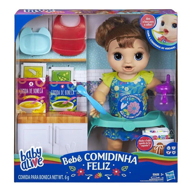 Boneca Baby Alive Bebê Faminta Morena - Hasbro
