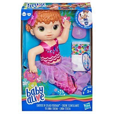 Boneca Baby Alive - Minha Linda Sereia - Ruiva - Hasbro