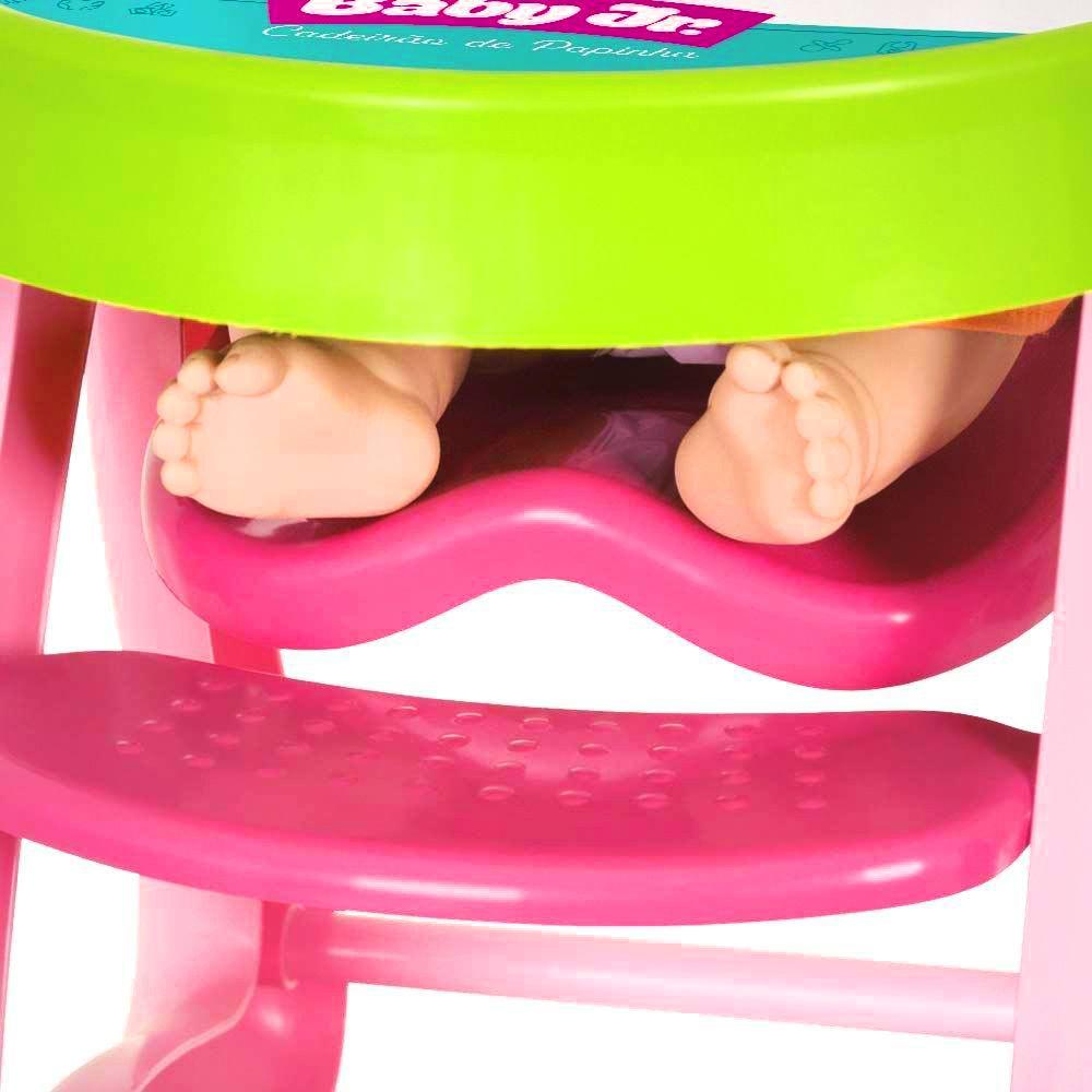 Boneca - Coleção Baby Jr. - Cadeirão de Papinha -  Cotiplás