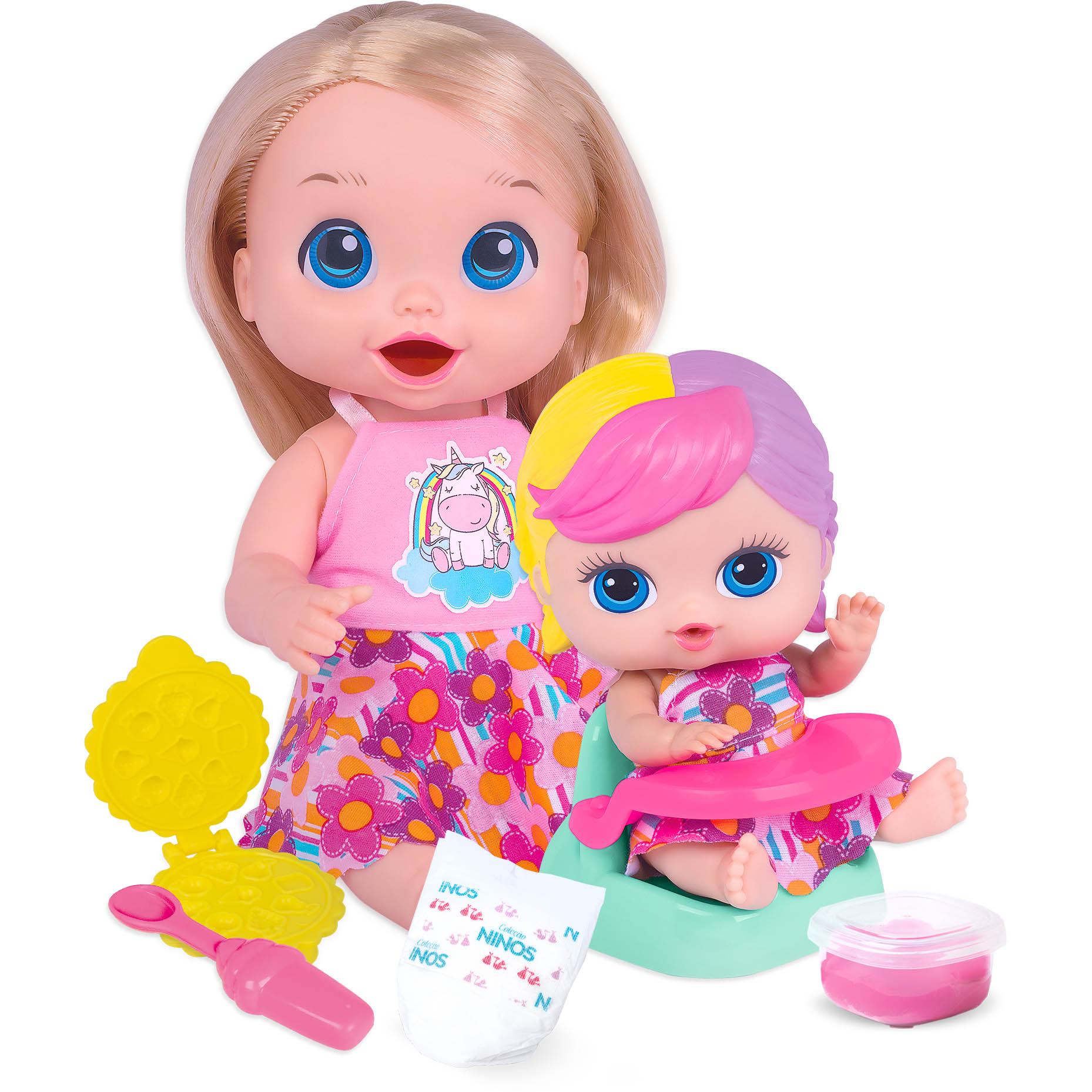 Boneca - Baby's Collection - Papinha Sapeca - Super Toys