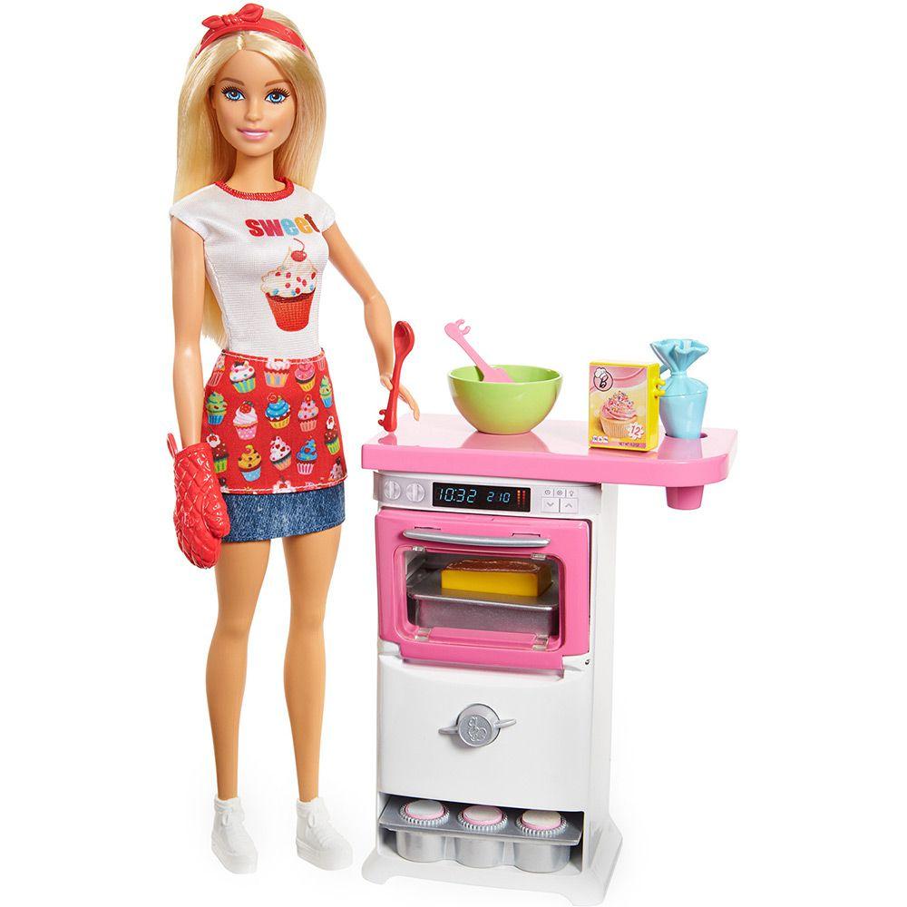 Boneca Barbie - Cozinhando e Criando - Chef de Bolinhos - Mattel