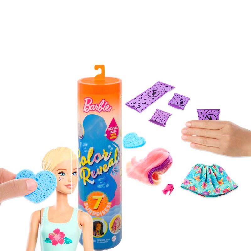 Boneca Barbie - Estilos Surpresa - Série Natureza - Color Reveal - Mattel