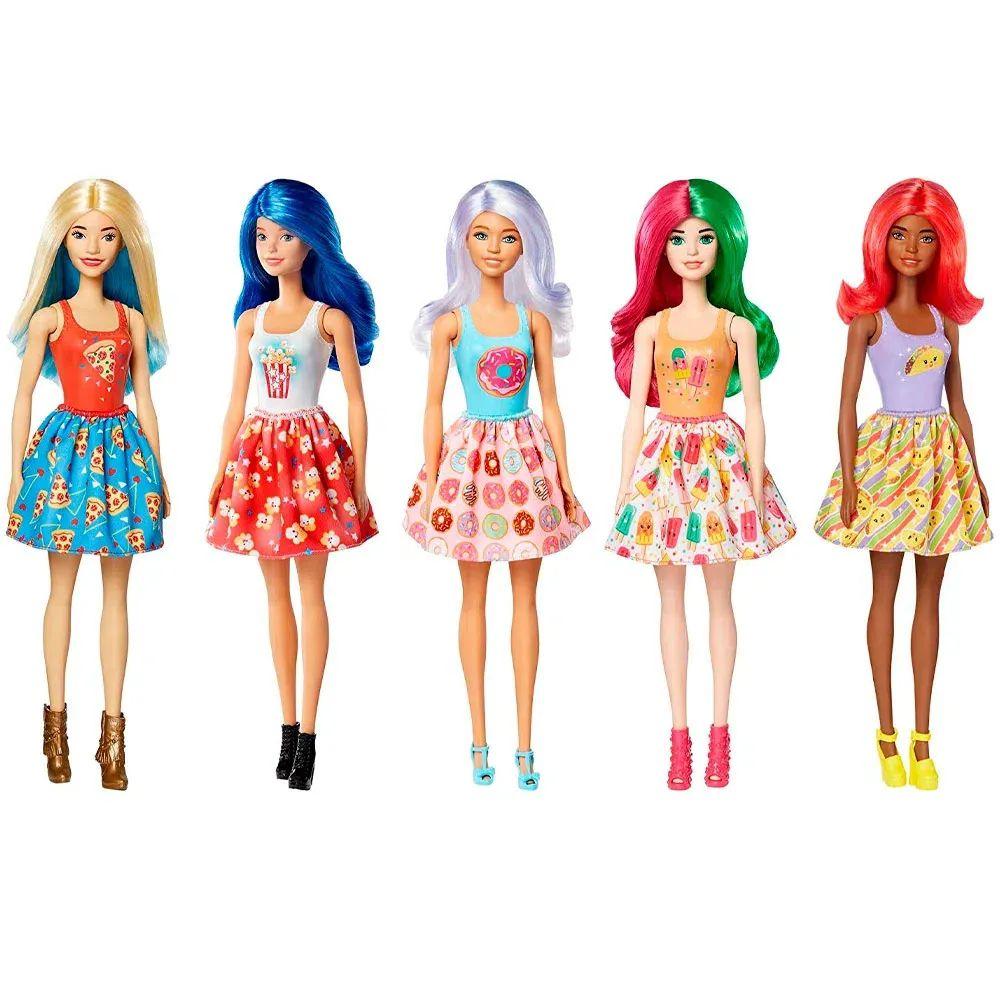 Boneca Barbie - Estilos Surpresa - Série Comidas - Color Reveal - Mattel