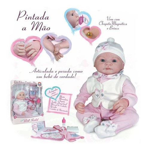 Boneca Bebê Reborn - Coleção Doll Realist - Layla - Sid-Nyl