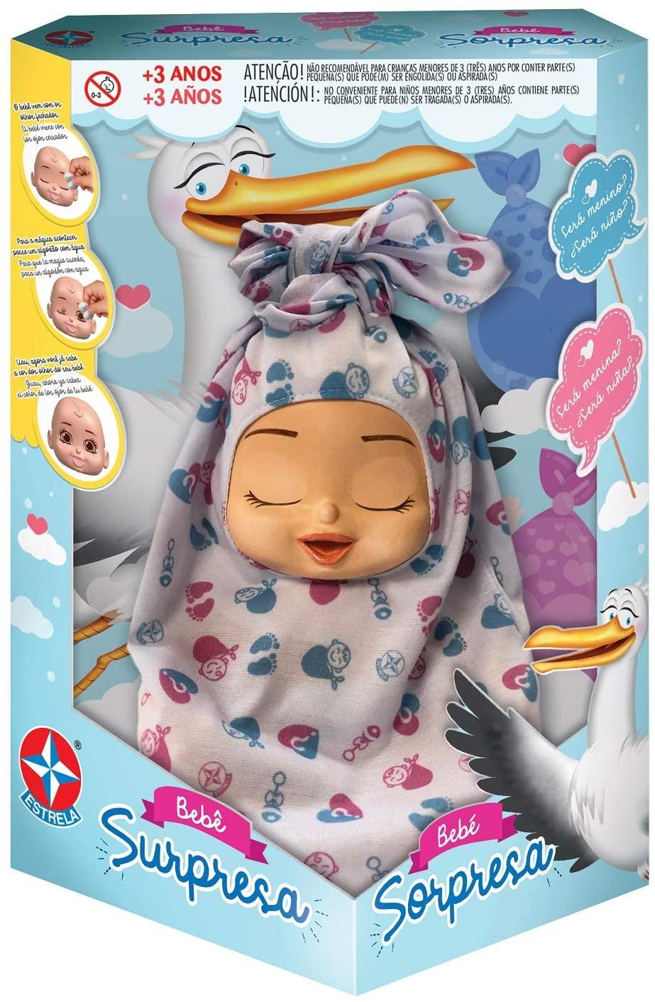 Boneca Bebê Surpresa - Negra ou Branca - Estrela