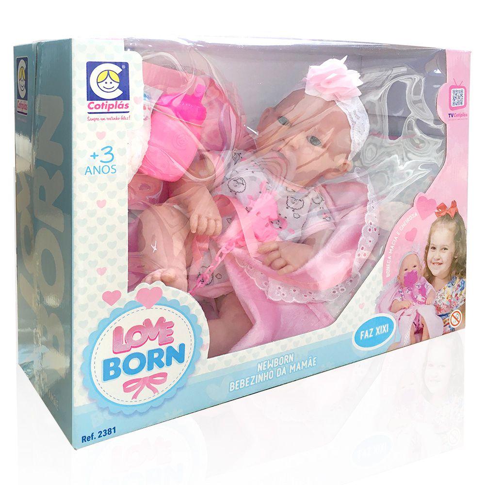 Coleção Love Born - Boneca Newborn - Bebezinho da Mamãe - Cotiplás
