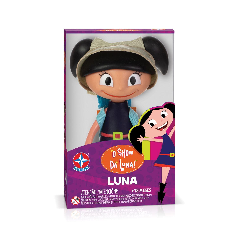 Boneca Luna  - Aventureira - 20cm - Vinil - Estrela
