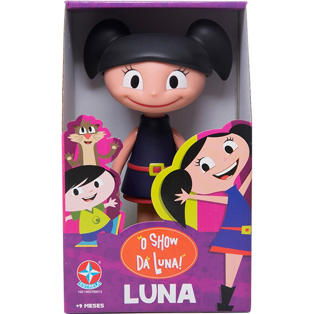 Boneca Luna  - Vinil - 20 cm - Estrela