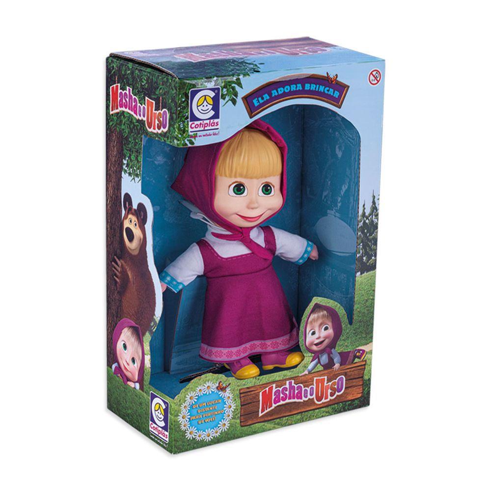 Boneca Masha - Masha e o Urso - 23 cm - Cotiplás