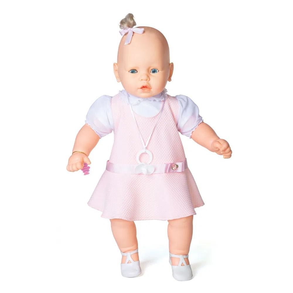 Boneca Meu Bebê - Vestido Rosa - 60 cm - Estrela