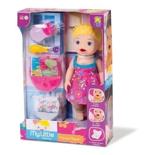 Boneca My Little Collection - Primeira Papinha - Loira - Diver Toys