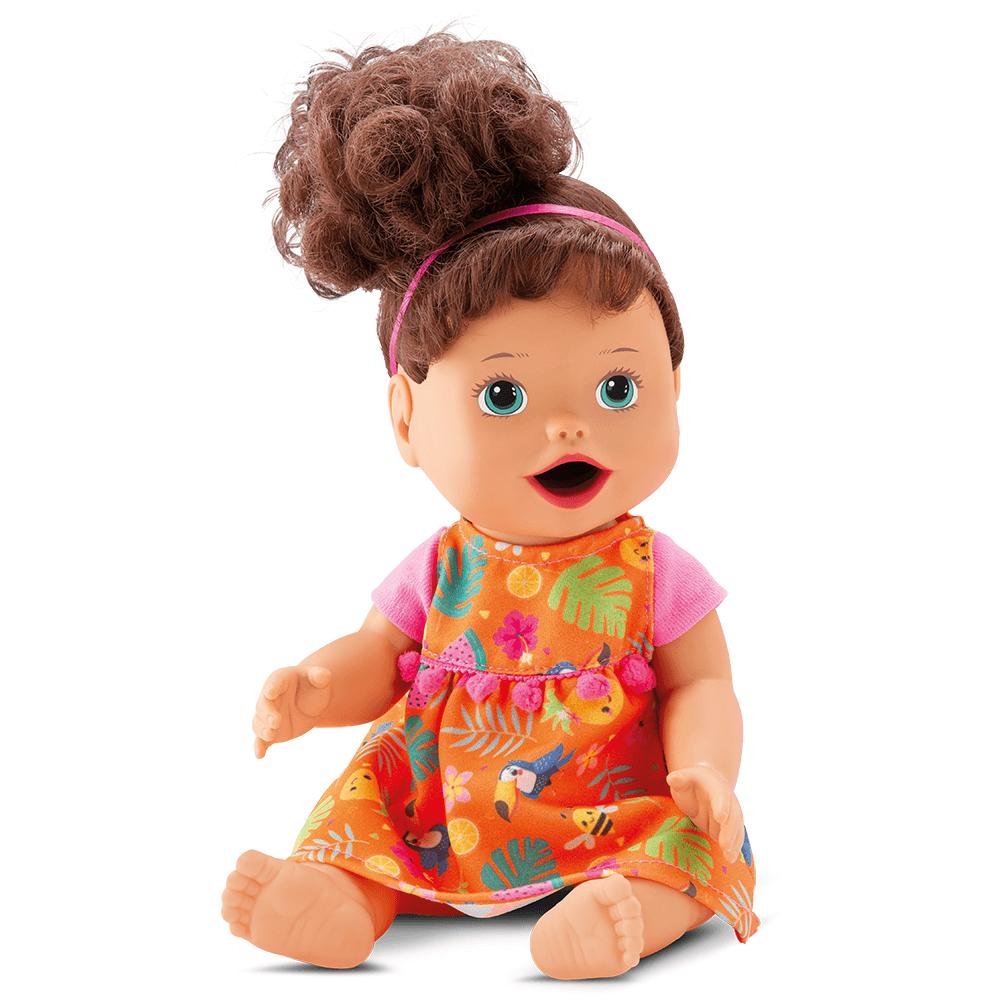 Boneca My Little Collection - Primeira Papinha - Morena - Diver Toys