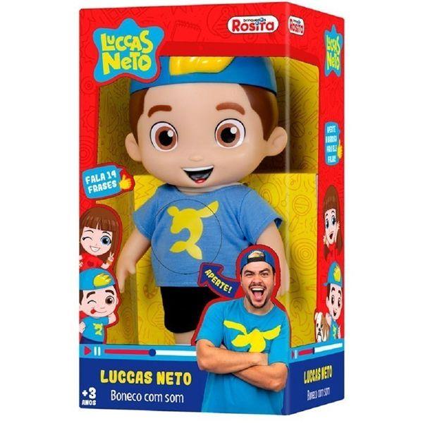 Luccas Neto Boneco com Som Fala 14 Frases - Rosita