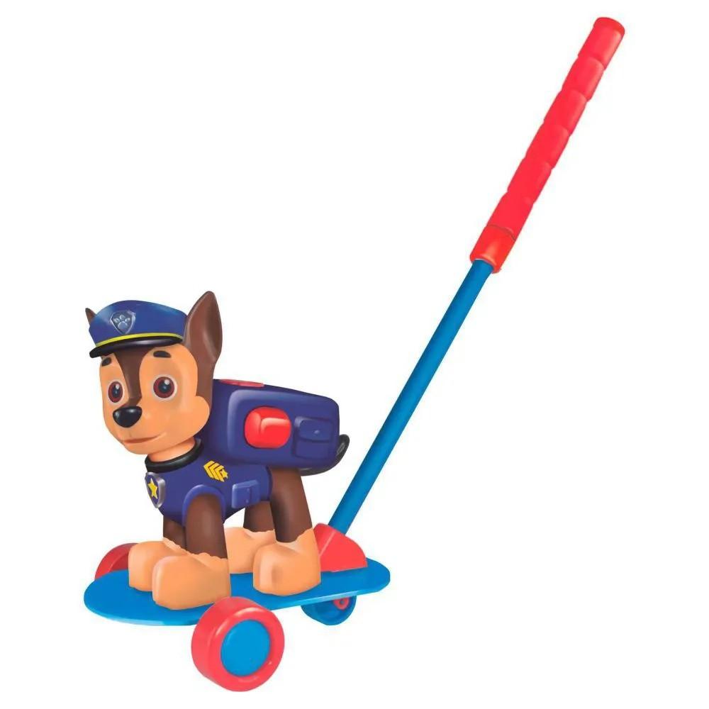 Boneco de Empurrar - Patrulha Canina - Chase - Líder Brinquedos