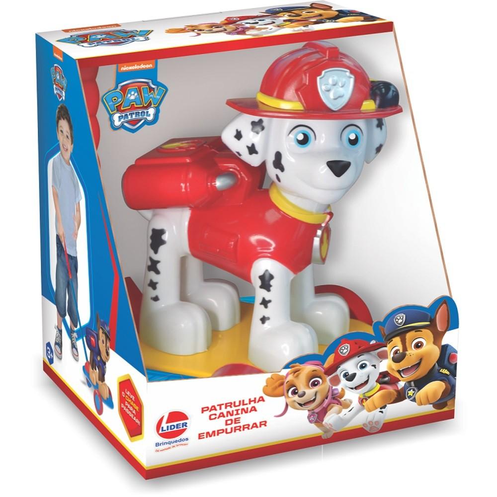 Boneco de Empurrar - Patrulha Canina - Marshal - Líder Brinquedos