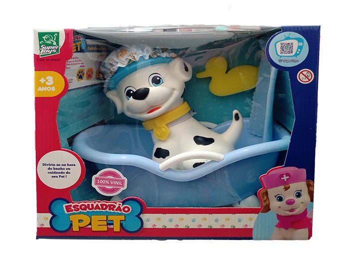 Cachorrinho com Acessórios - Esquadrão Pet Banho - Super Toys