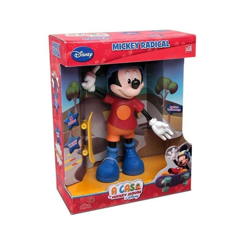 Boneco - Mickey Radical Skate - Disney - 24cm - Elka