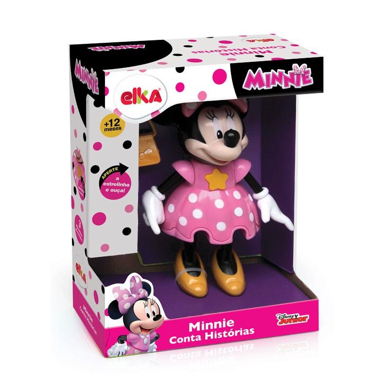 Boneco - Minnie Conta história - com Som - 24cm - Elka