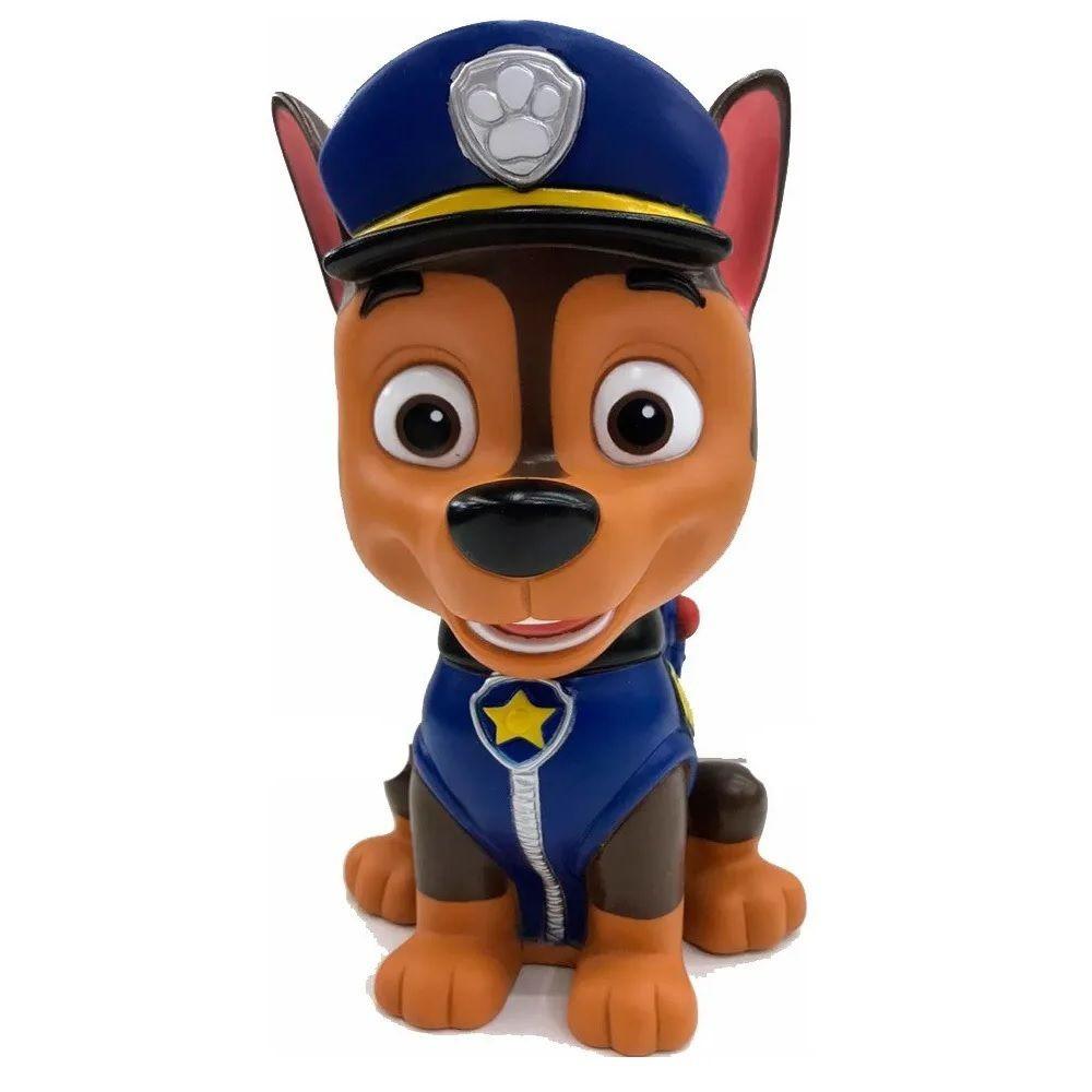 Cofrinho Patrulha Canina - Poupatrulha - Boneco Chase - Líder Brinquedos