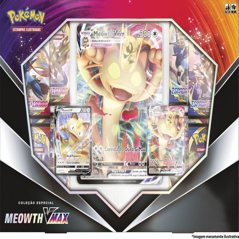 Box Pokémon - Coleção Especial - Meowth Vmax - Copag