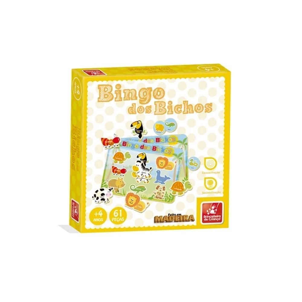 Brinquedo Educativo - Bingo dos Bichos - Brincadeira de Criança