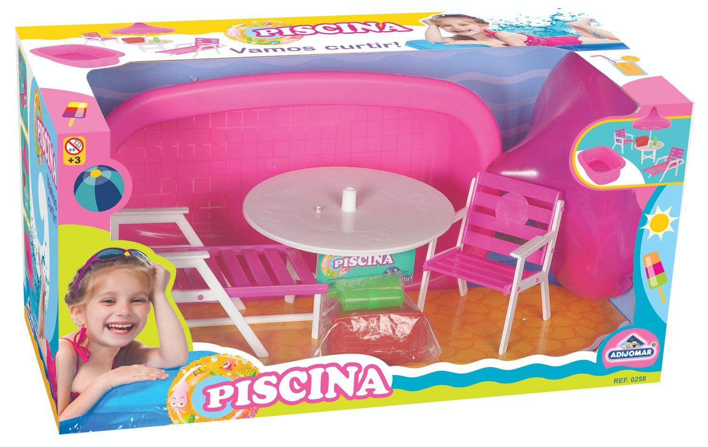 Playset de Piscina com Acessórios - Para Boneca - Adijomar