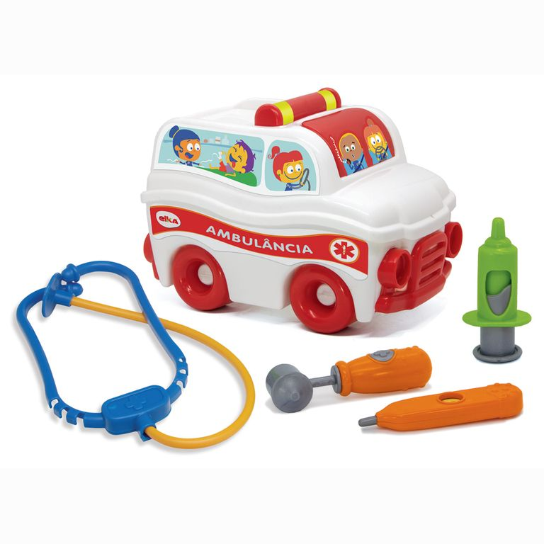 Brinquedo Infantil - S.O.S Resgate Ambulância - Elka