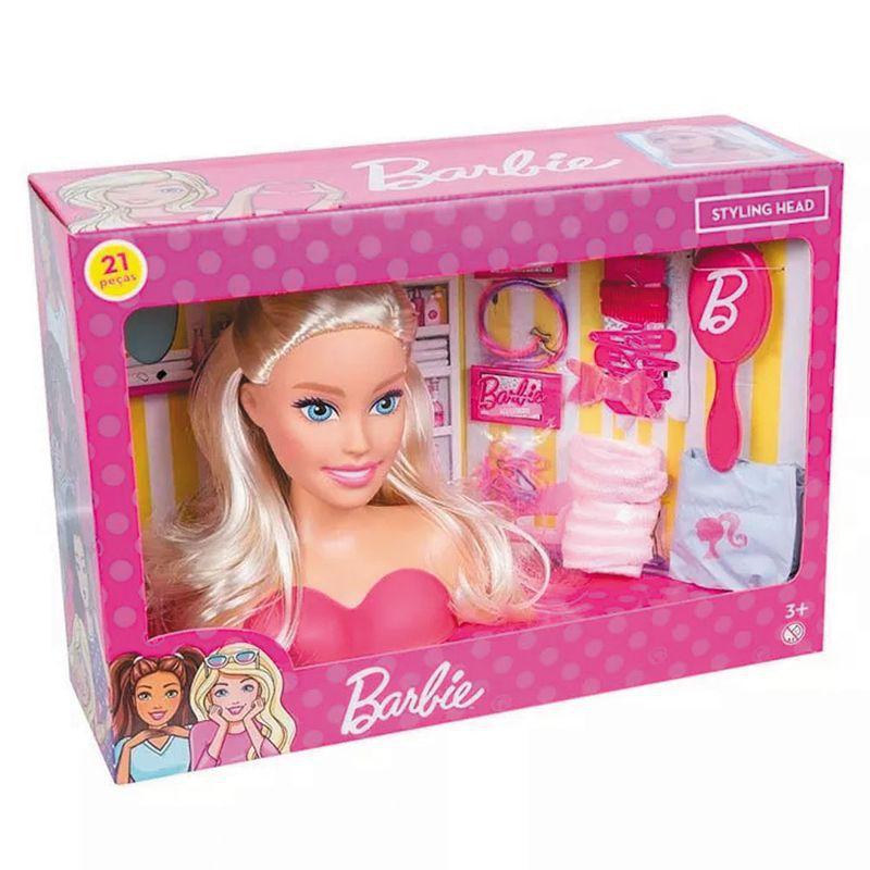 Busto da Barbie - Styling Head - 21 Peças - Pupee