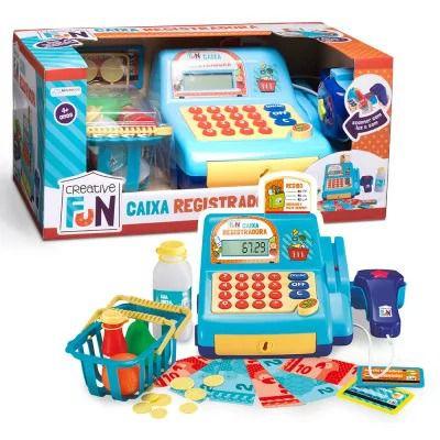 Caixa Registradora Azul - Creative Fun - Multikids