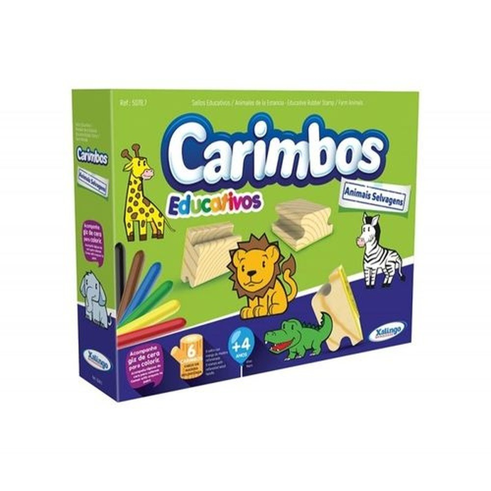Carimbos Educativos - Animais Selvagem - Xalingo