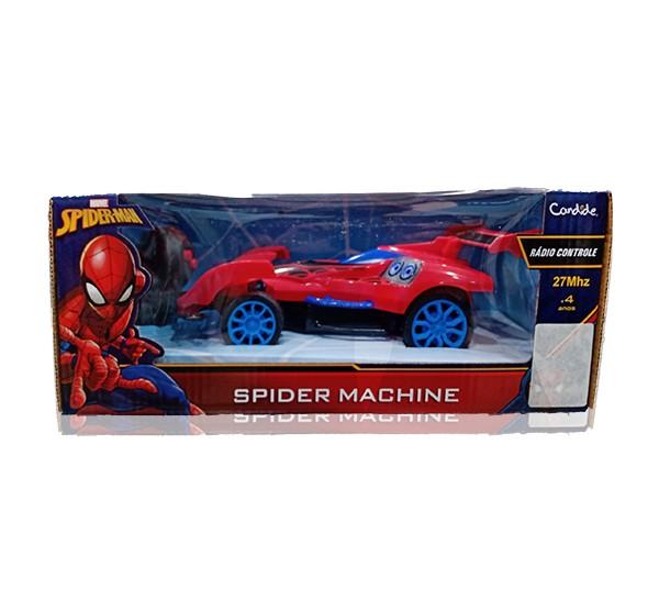 Carrinho Controle Remoto - Spider Man - 3 Funções - Candide