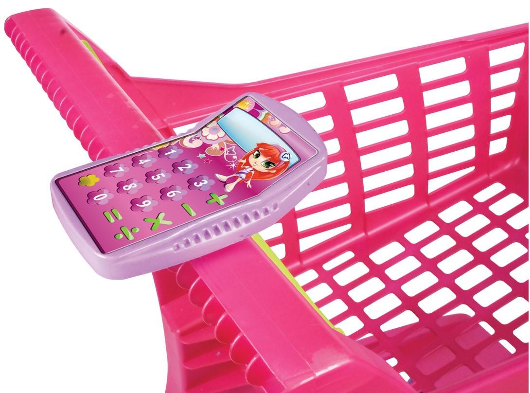 Carrinho de Mercado Infantil - Market Rosa - Magic Toys