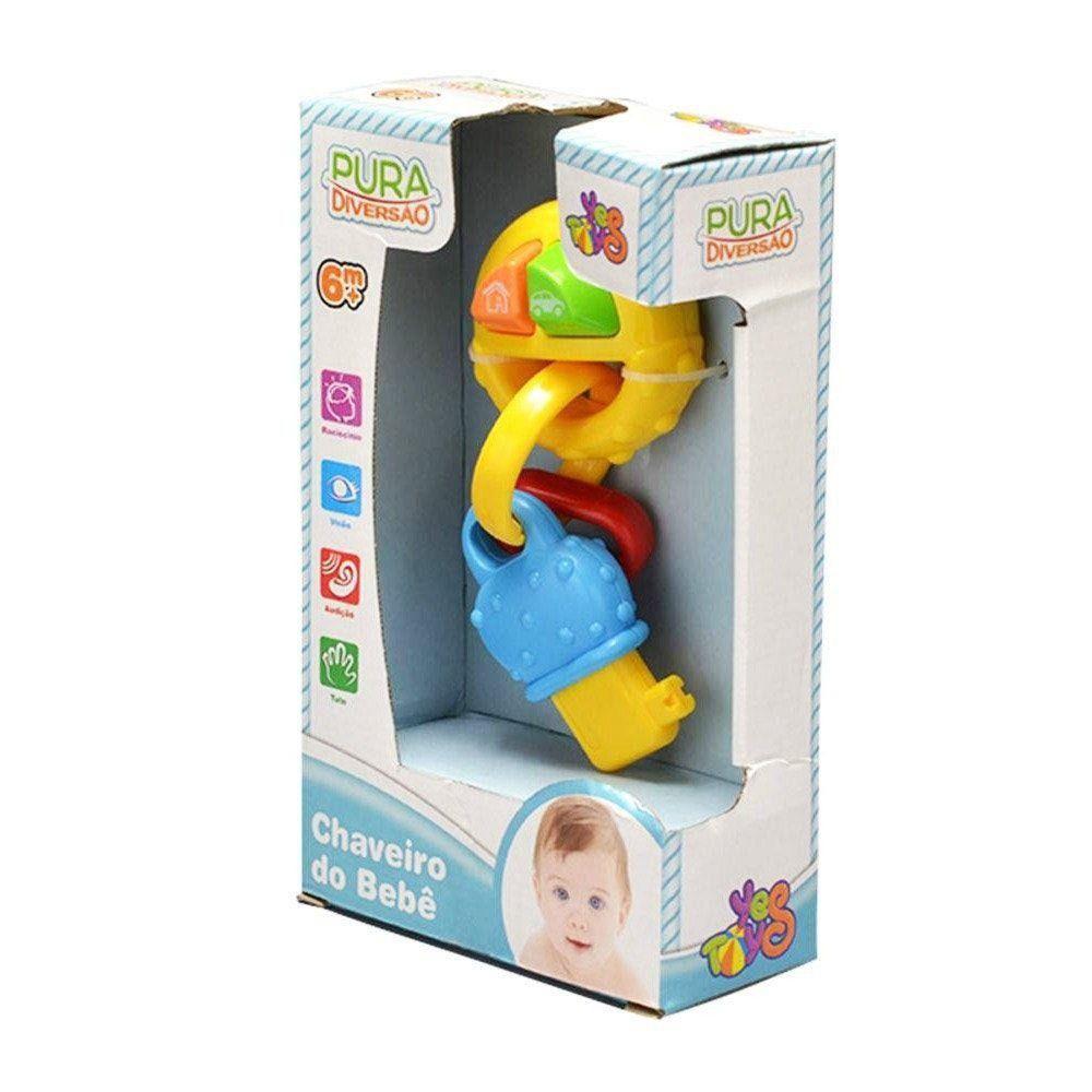 Chocalho e Mordedor - Chaveiro do Bebê - YesToys
