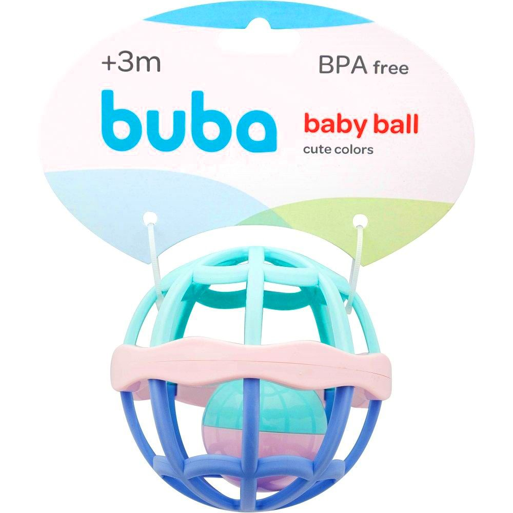 Chocalho Baby Ball Rosa - Cute Colors - Buba