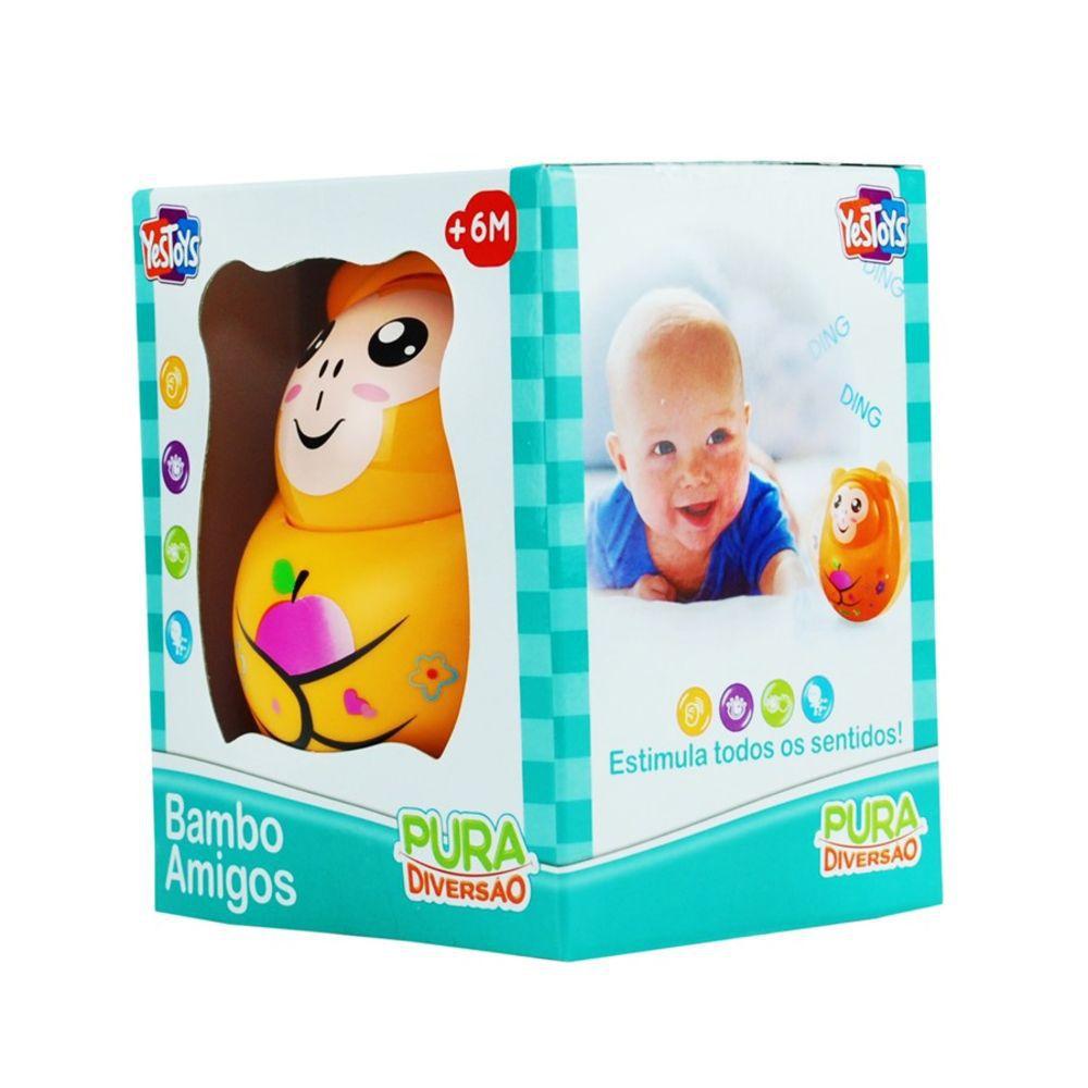 Chocalho Bambo Amigos - Macaco - YesToys