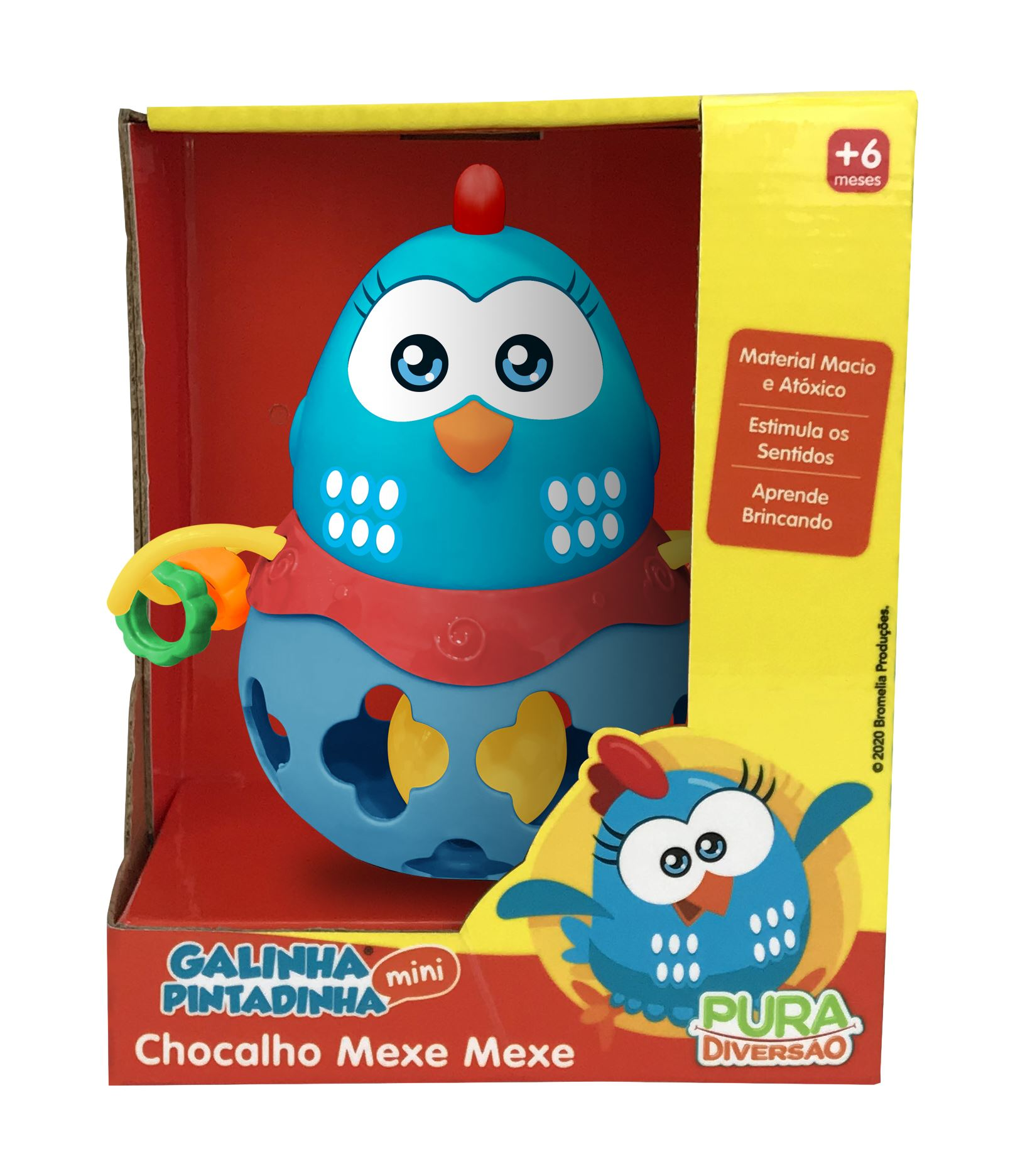 Chocalho Mexe Mexe - Galinha Pintadinha - Yes Toys