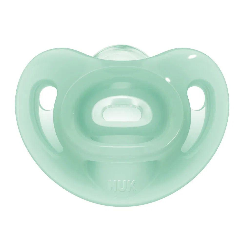 Kit com 2 Chupetas de Silicone - Sensitive - Verde e Azul - Tamanho 2 - (+ 6 meses) - NUK