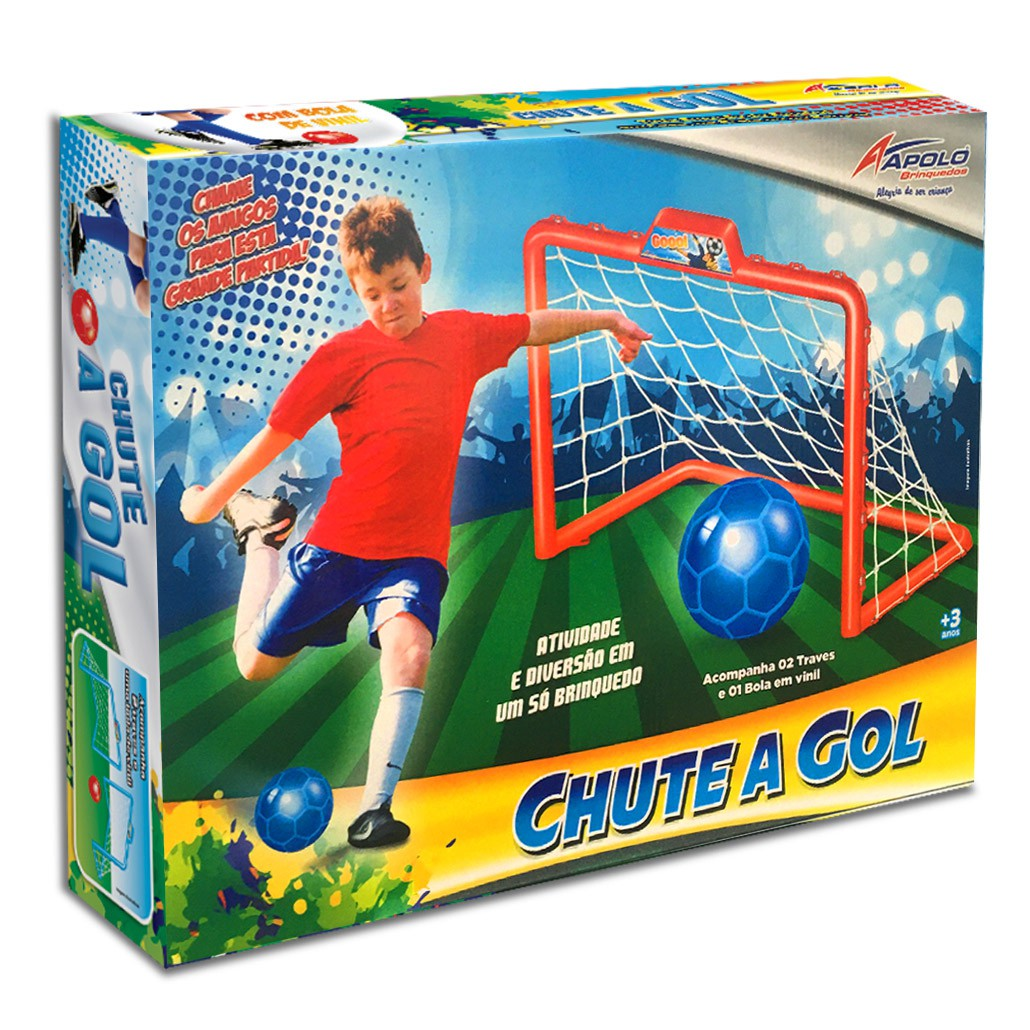 Chute a Gol Com Bola - Apolo Brinquedos