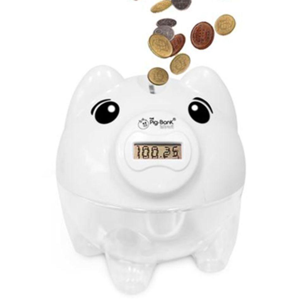 Cofre Conta Moedas - Branco - Pig Bank  - In Brasil