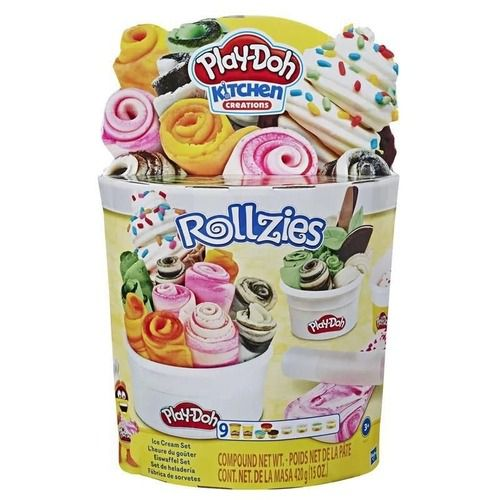 Conjunto De Massinhas - Play-Doh - Rollzies Sorvete - Hasbro