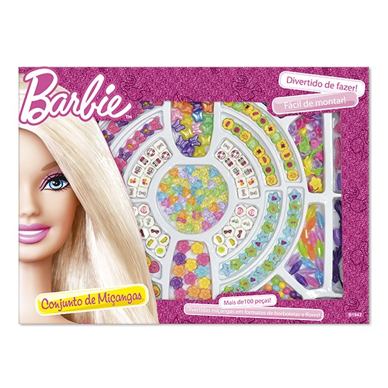 Conjunto de Miçangas - Barbie - Fun