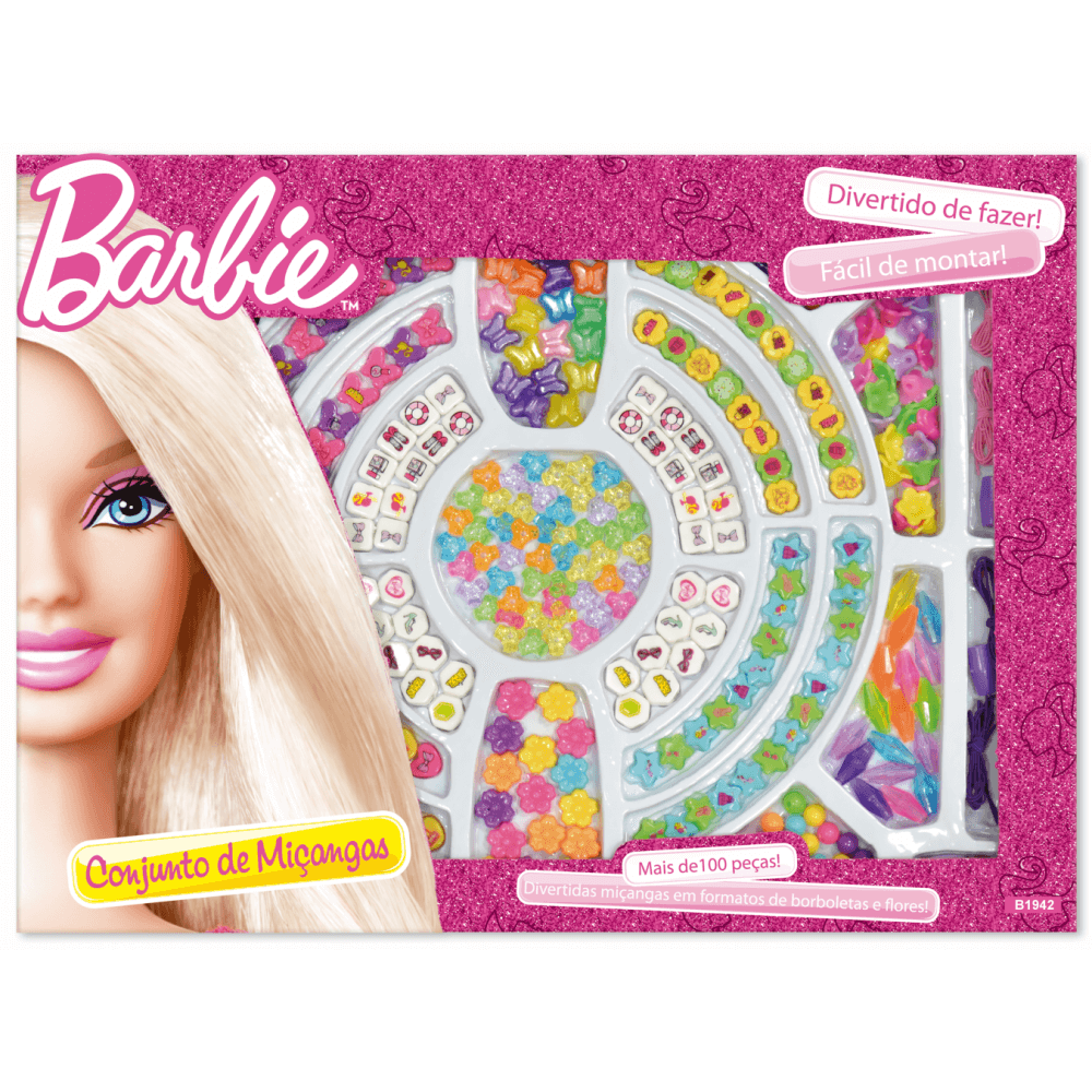 Conjunto de Miçangas - Barbie - Fun