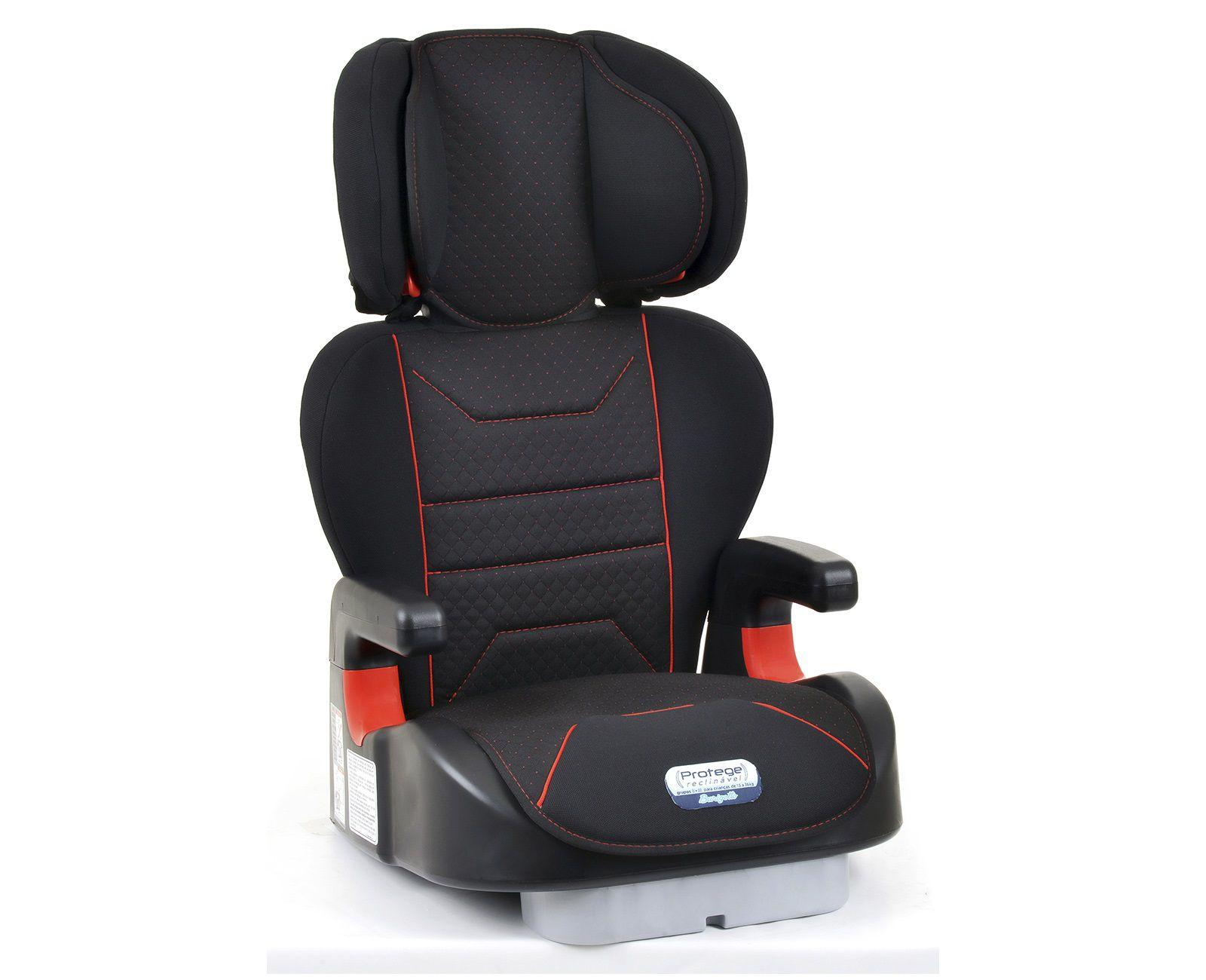 Cadeira Carro - Protege Reclinável - Preta e Vermelha - de 15 à 36Kg - Burigotto