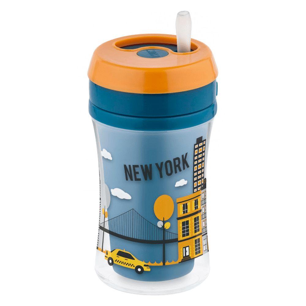 Copo com Canudo - 270 ml - Fun Cup - Azul - (+ 18 meses) - Nuk