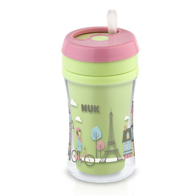 Copo com Canudo - 270 ml - Fun Cup - Verde - (+ 18 meses) - Nuk