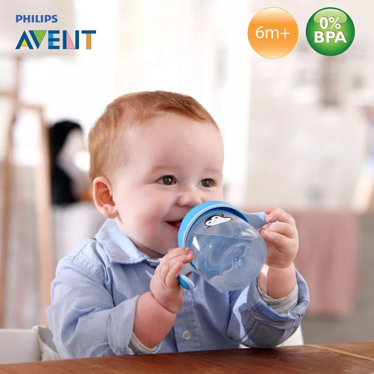 Copo Infantil Azul - Antivazamento 200ml - (+ 6 meses) - Philips Avent