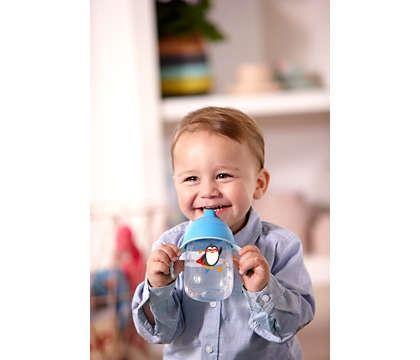 Copo Infantil Azul - Antivazamento 340ml - (+ 18 meses) - Philips Avént