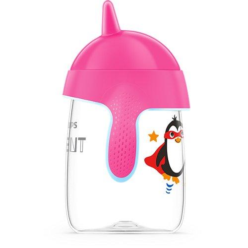 Copo Pinguim Rosa - 340ml - (+18 meses) - Philips Avent